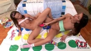 Horny, barely legal girls enjoy sapphic sex with sex toys