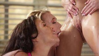 Megan and Aj visits the squirter yoga teacher again