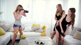 Mom Daughter and the photographerhaving hot lesbian fuck
