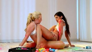 Teen Lesbians Samantha Rone and Taylor Reed